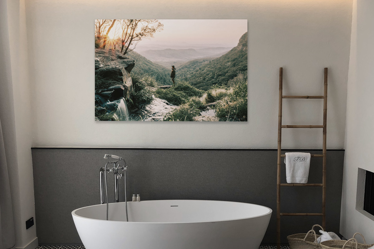 Foto Leinwand für das Badzimmer   Bildtitan Blog